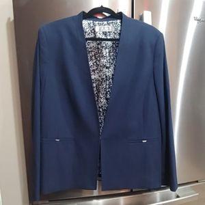 Tahari Arthur S. Levine Size 18 Navy Blue Blazer
